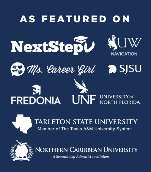 As featured on websites Next step U, Ms Career girl, Freedonia, University of North Florida, Tarelton state university